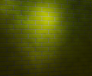 Light On Green Brick Wall Studio Background