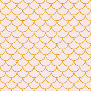Light Pink And Gold Glitter Scales Pattern