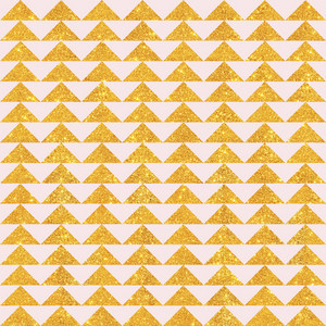 Light Pink And Gold Glitter Triangles Pattern