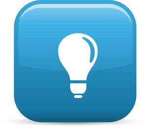 Lightbulb Elements Glossy Icon