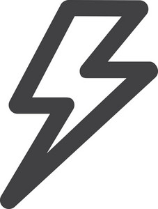 Lightning Bolt Stroke Icon