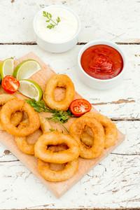 Calamari Rings And Sauce