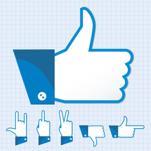 Like And Other Finger Other Finger Gestures. Vector.