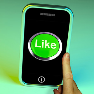 Like Button On Mobile Shows Approval And Being A Fan