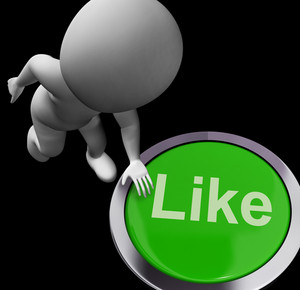Like Button Shows Approval Or Being A Fan