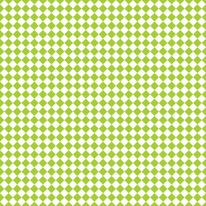 Lime Green And White Diagonal Checkerboard Pattern