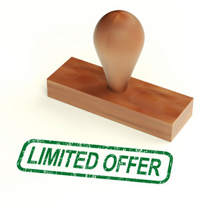 Limited Offer Rubber Stamp Shows Product Promotions