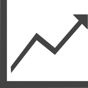Line Chart Up Glyph Icon