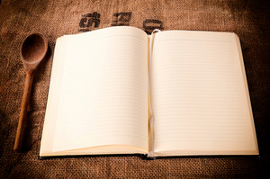 Lined Notebook On Table