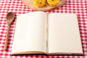 Lined Notebook On Tablecloth