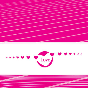Lines Background With Romantic Heart