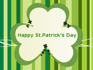 Lines Background With Shamrock