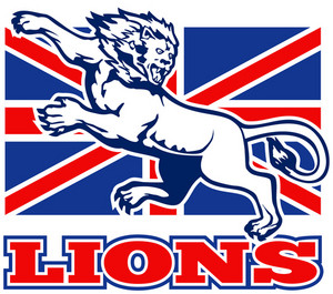 Lion Attacking Gb British Union Jack Flag