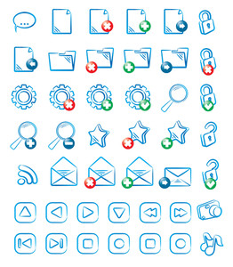 Liquid Icon Set. Vector.