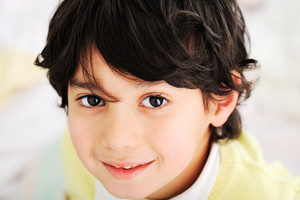 Little cute boy looking