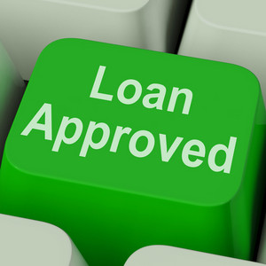 Loan Approved Key Shows Credit Lending Agreement