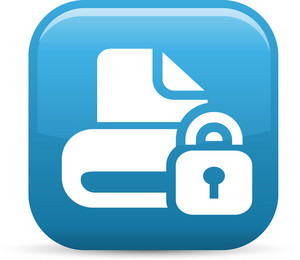 Lock Drive Elements Glossy Icon