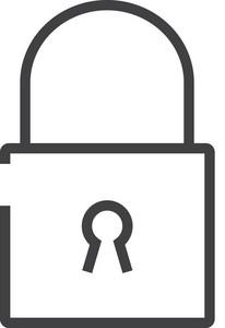 Lock Minimal Icon