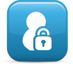 Lock Person Elements Glossy Icon