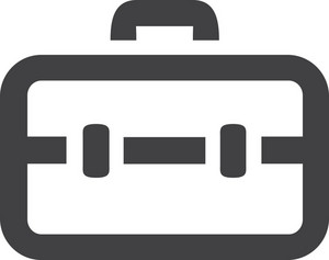 Locked Briefcase Stroke Icon