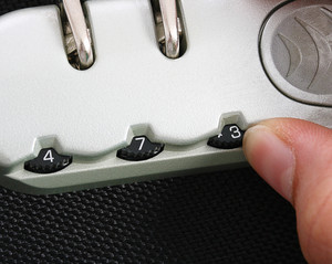 Locking Suitcase With A Combination Lock For Security