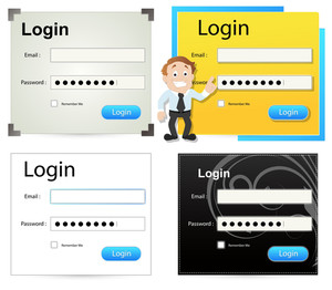 Login Box Vector Templates