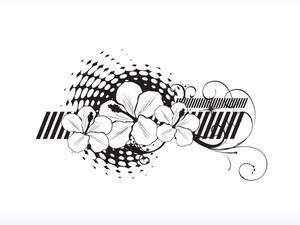 Logo Hibiscus Flower Illustration