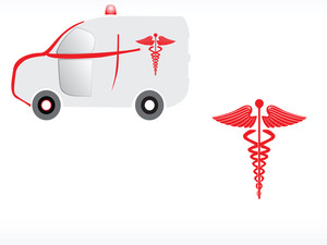 Logo Of Ambulance With Caduceus