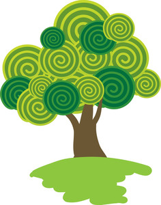 Lollipop Tree. Vector.