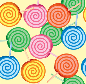 Lollipop Vector Seamless Background