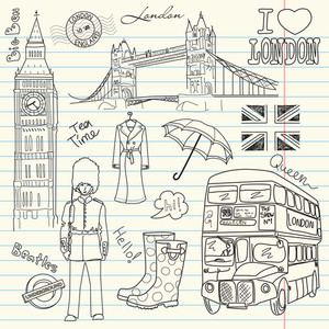 London Doodles In The Sketch Book