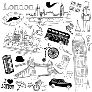 Londres Doodles