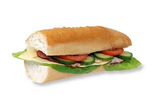 Long Baguette Sandwich