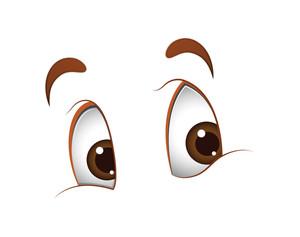 Looking Cute Cartoon Eyes