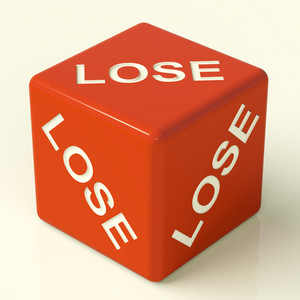 Lose Dice Representing Defeat And Failure