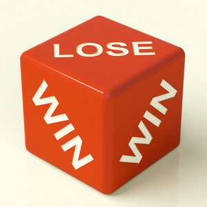 Lose Red Dice Represent Gambling And Losing
