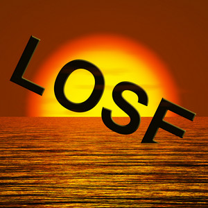 Lose Word Sinking Representing Defeat And Loss