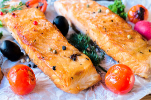 Served Salmon Fillets