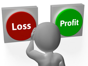Loss Profit Buttons Show Deficit Or Return
