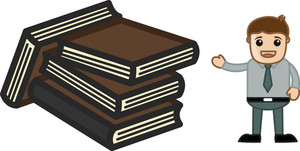Lots Of Books - Physical Books Concept - Business Cartoons Vectors