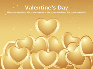 Lots Of Love With Golden Background