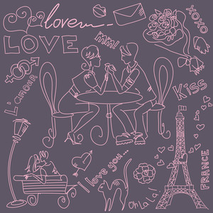 Love And Valentine Doodles-
