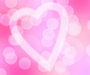Love Bokeh Pink Background