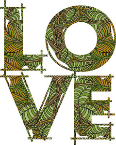 Love Green. Vector Illustration