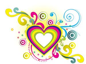 Love Halftone Background