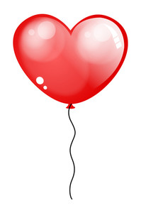 Love Heart Glossy Balloon