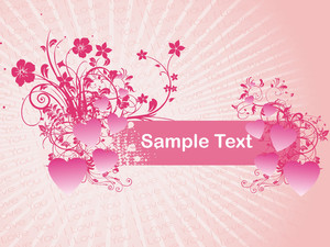 Love Letter Background With Floral Text