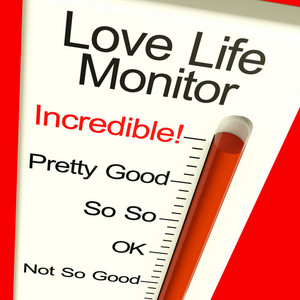 Love Life Meter Incredible Showing Great Relationship