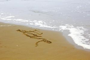 Love Love Writing At Beach