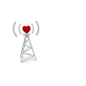 Love Signal Concept 3d Render